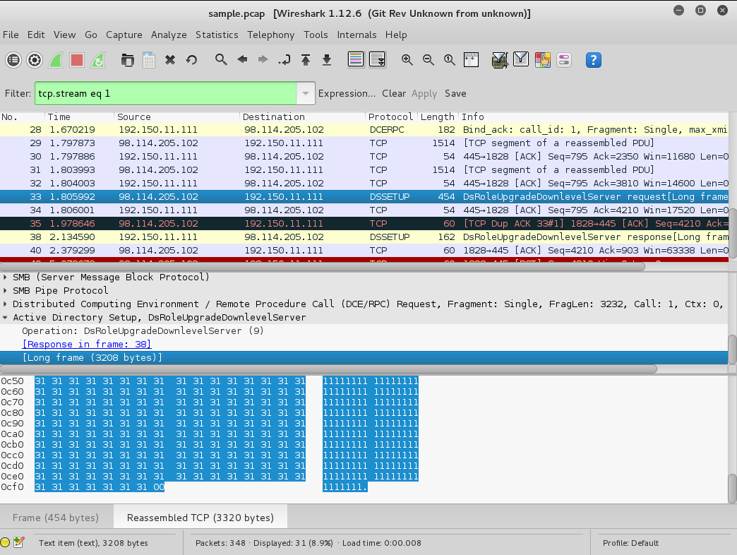 Wireshark TCP Stream